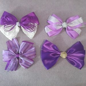 Bundle of Purple Hair Bows 💜🎀